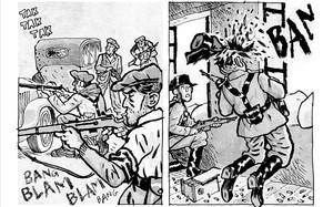 Viñetas del cómic La balada del norte 2, de Alfonso Zapico, sobre la Revolución de Asturias.