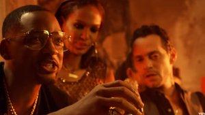 Will Smith y Marc Anthony, en el clip de 'Está rico'.