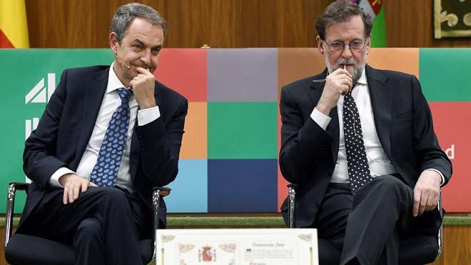 Zapatero i Rajoy defensen la vigència de la Constitució