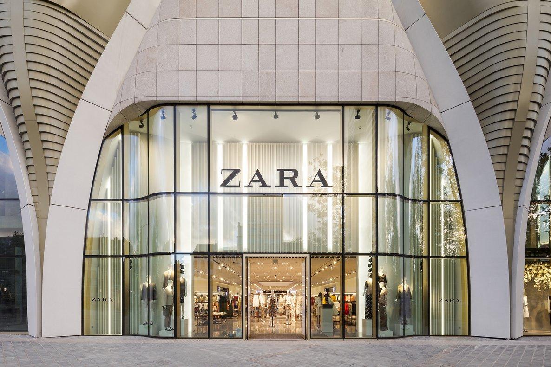 Entrada de una tienda de Zara en Bruselas
