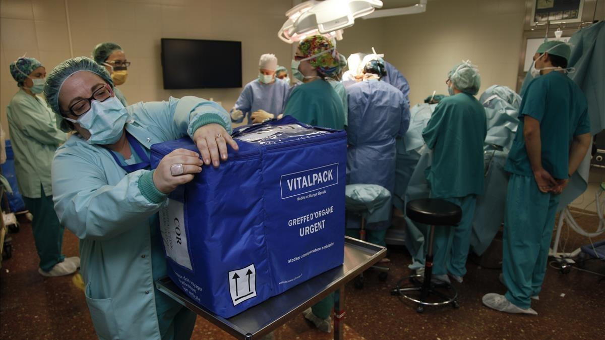 Un transplante de órgano.