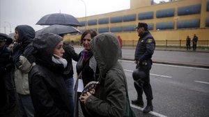 Protesta en el CIE de Aluche, en el 2016.