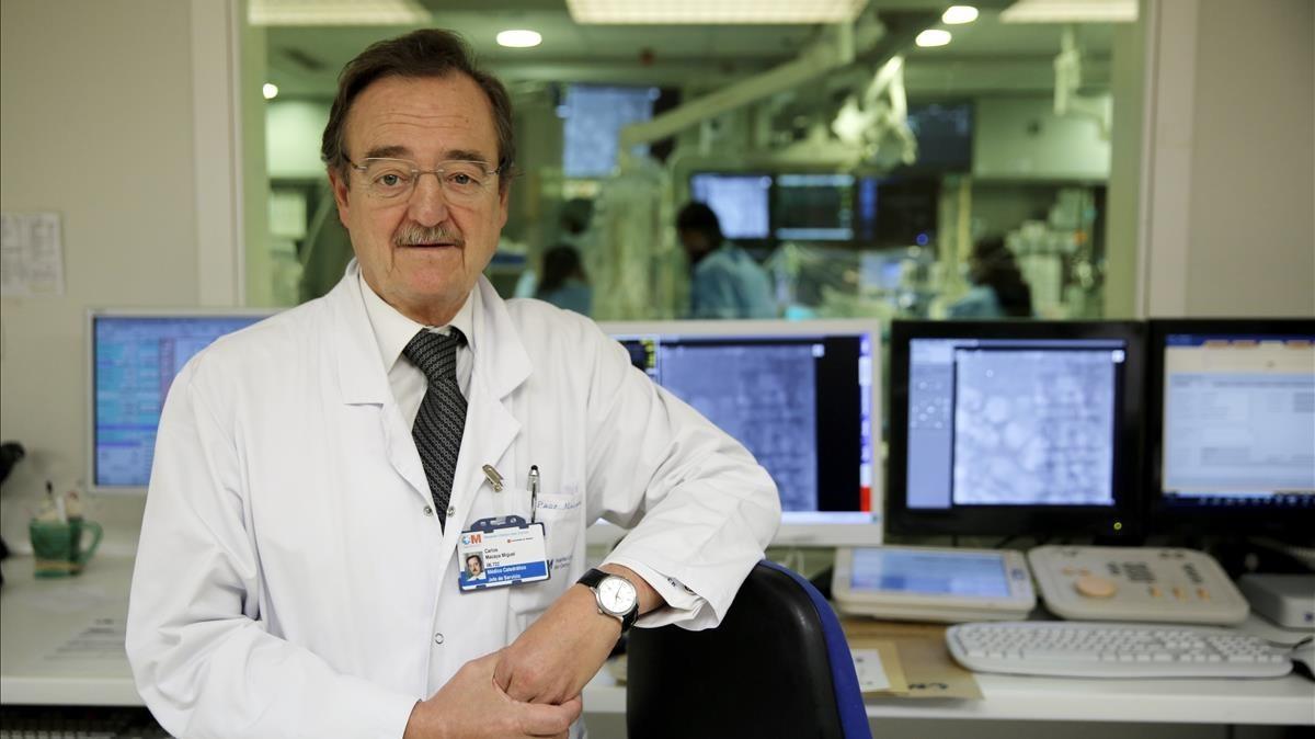El cardiólogo Carlos Macaya Miguel, en Madrid.