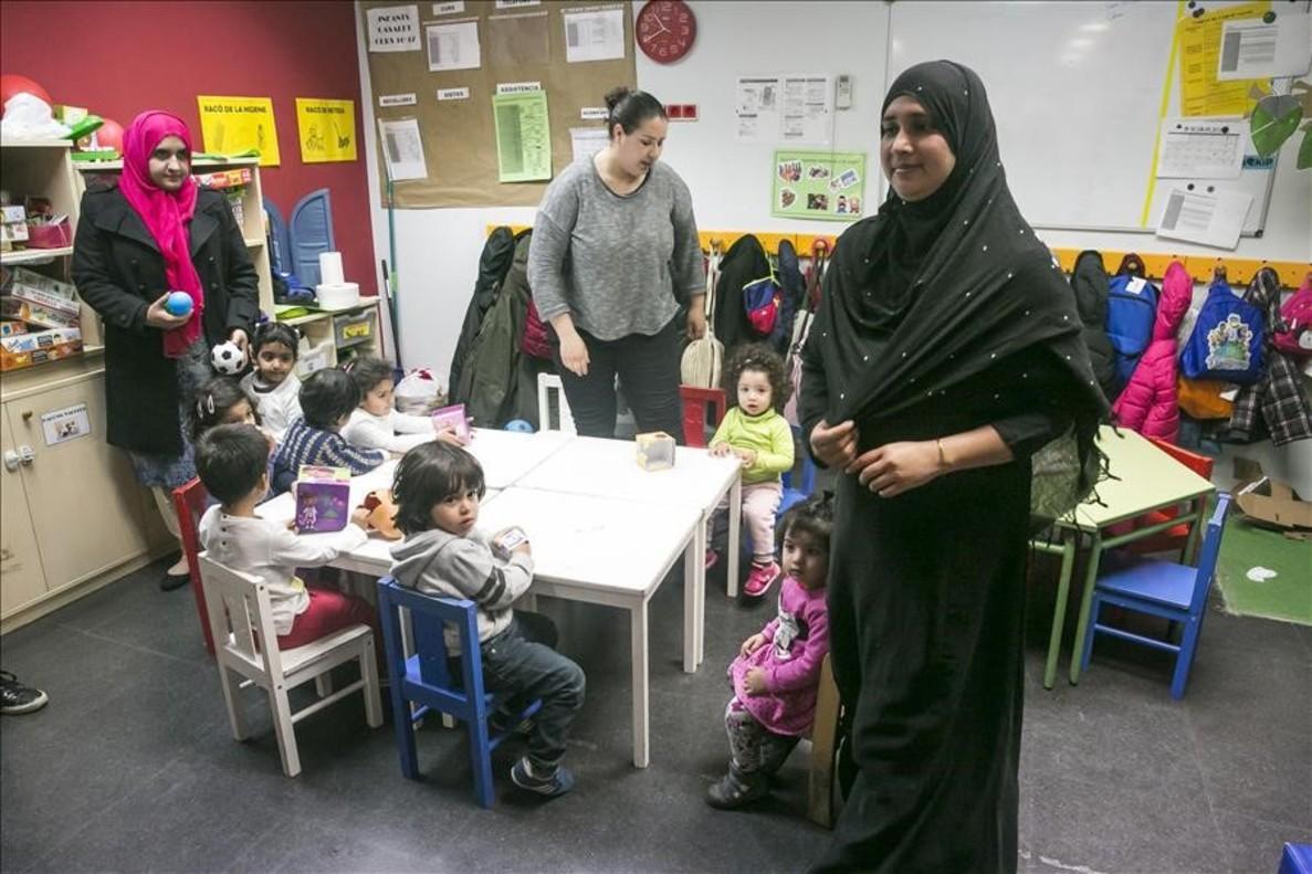 Un momento del proyecto 'Vincles' del Casal dels Infants.