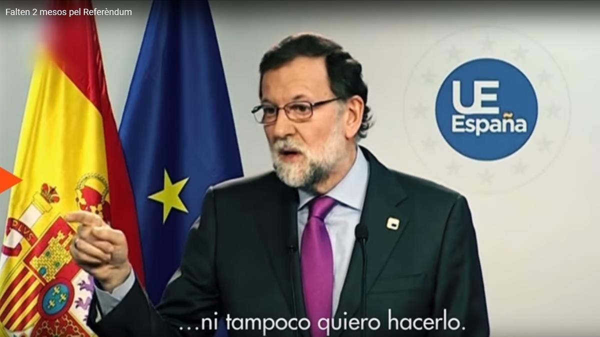 òmnium Lanza Un Vídeo Con Frases De Rajoy Para Incentivar El 1 O