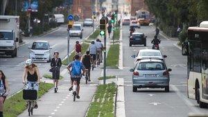 Barcelona obrirà un carril bus a Aragó i eliminarà un vial a Mallorca