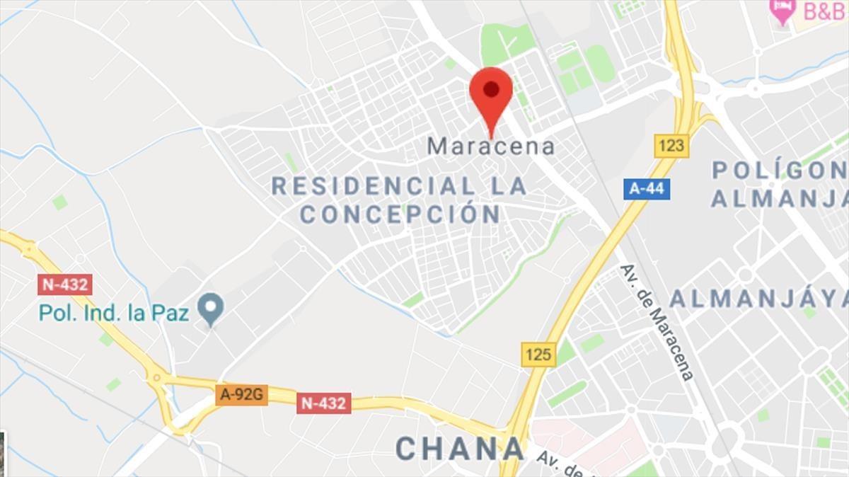 Ubicación de la ciudad de Macarena, en la provincia deGranada.