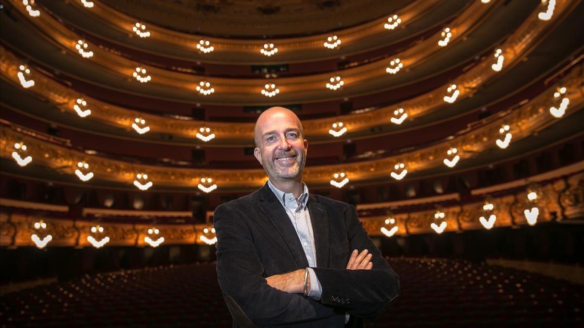 Víctor García de Gomar, este jueves tras su presentación como nuevo director artístico del Liceu.