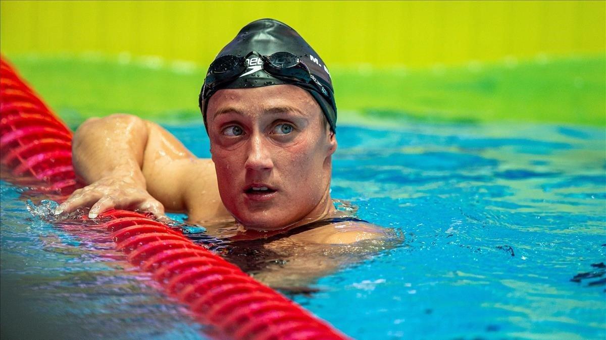 Mireia Belmonte después de competir en la final de 1.500 metros en Gwangju (Corea del Sur).