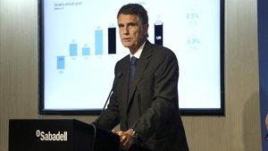 El Sabadell guanya un 340% més després de resoldre TSB i vendre Solvia