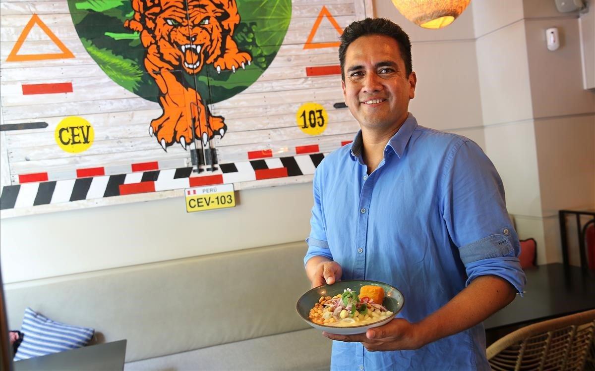 Gary Llempén, en el restaurante Cebiche 103.