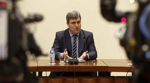 El president del Consell Superior dEsports, Miguel Cardenal, durant una roda de premsa
