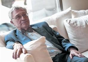 El economista e historiador Ángel Viñas, durante la entrevista.