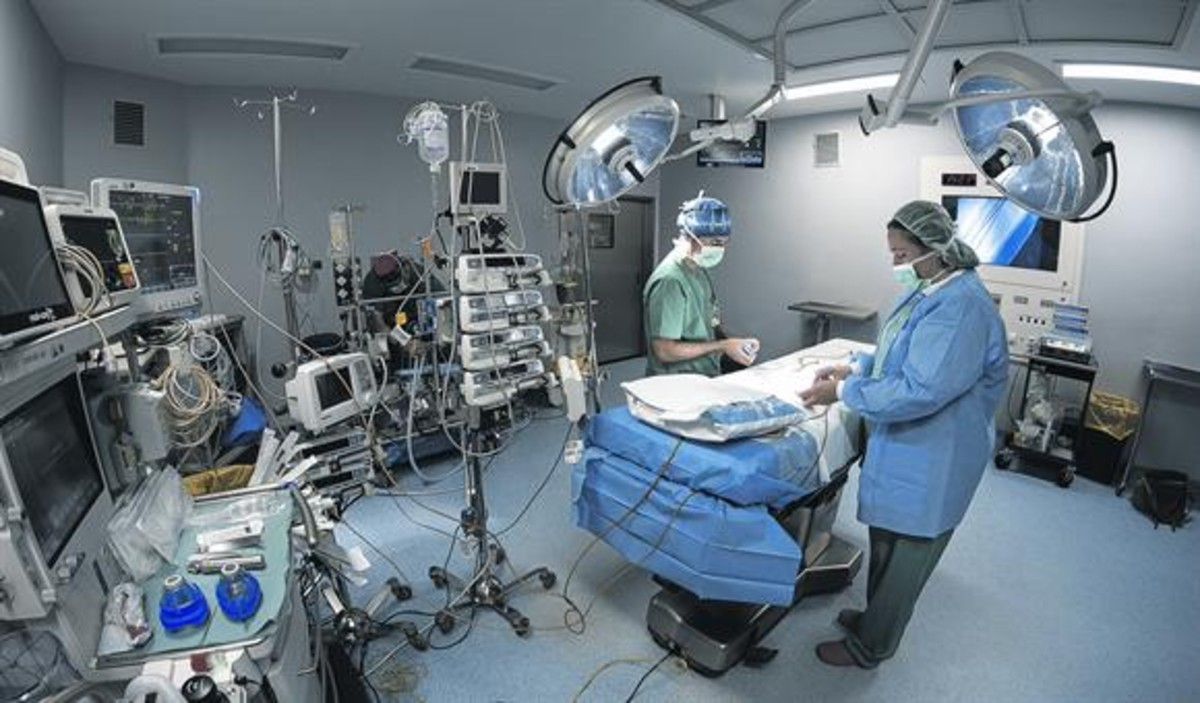 Un quirófano del Hospital de Can Ruti, abierto en verano.