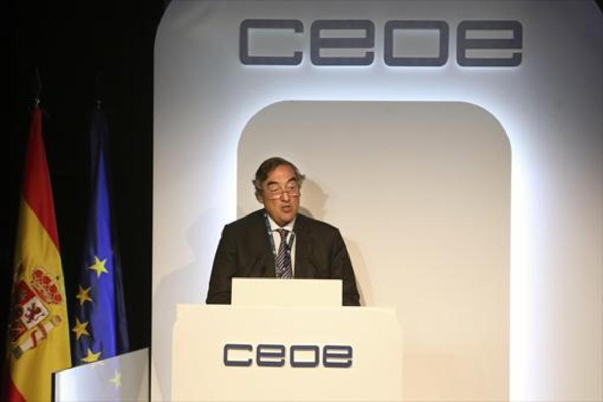 Juan Rosell, presidente de la patronal CEOE.