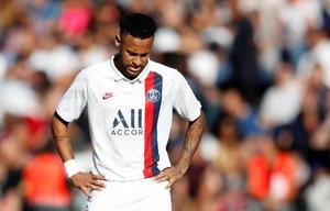 El brasileño Neymar durante un partido de la liga francesa.