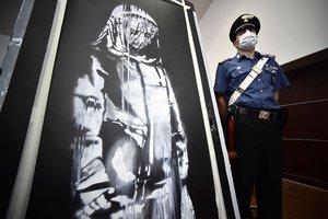 Així es va recuperar l'obra de Banksy robada a la sala Bataclan de París
