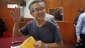 Alberto Fujimori ante el tribunal del Lima en enero del 2015.