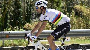 Alejandro Valverde en la Volta de Catlaunya.
