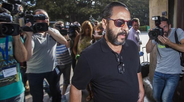 Álvaro Pérez, el Bigotes, cabecilla de la trama Gürtel, en una comparecencia judicial en Valencia en el 2015.