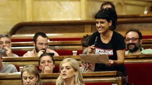 La diputada de la CUP en el Parlament, Anna Gabriel.