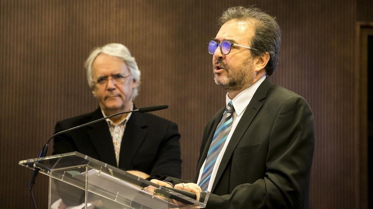 Antoni Plasència, durante un parlamento.