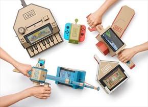 CARTÓN. Algunos de los periféricos que se pueden montar con Nintendo Labo.