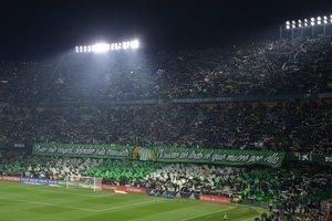 Imagen de una grada del estadio Benito Villamarín de Sevilla.