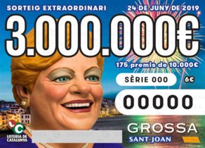 Billete de la Grossa de Sant Joan 2019