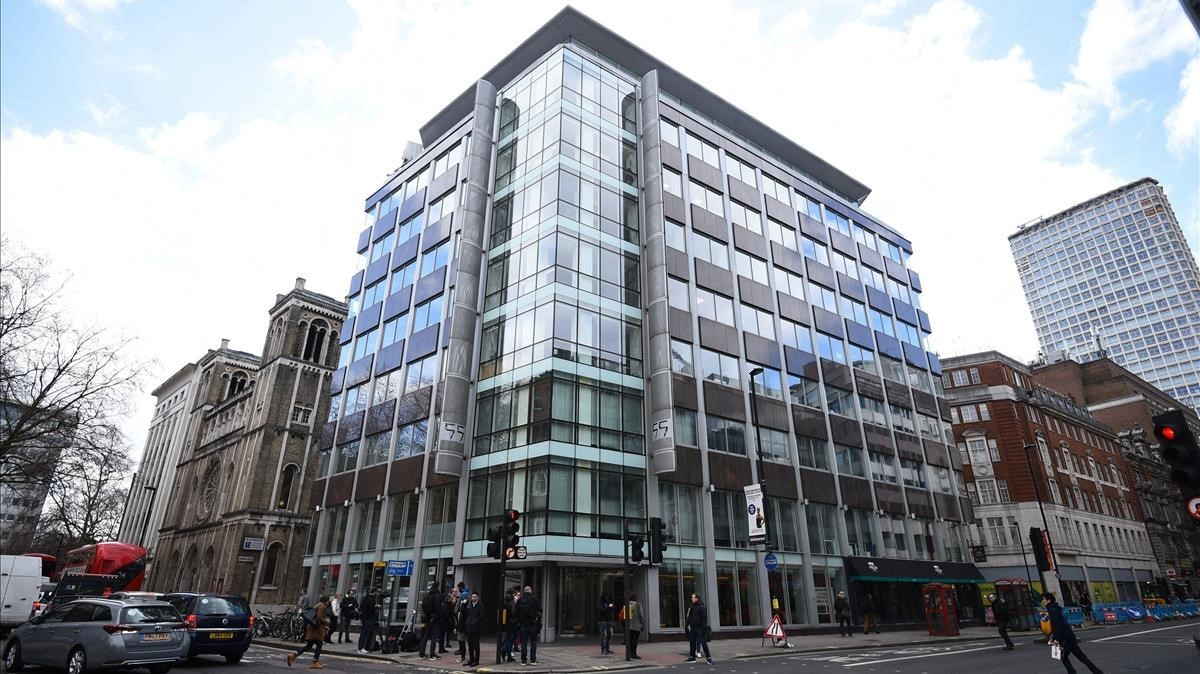 Las oficinas de Cambridge Analytica, en Londres.
