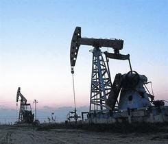 Campo de extracción de petróleo.