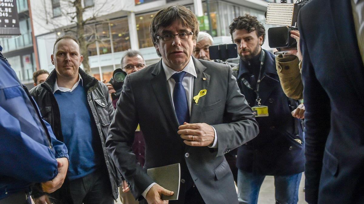 Carles Puigdemont, el pasado 22 de diciembreen Bruselas.