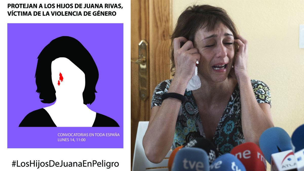 Cartel de la campaña #LosHijosDeJuanaEnPeligro.