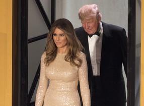 Melania Trump llegaa la Cena a la Luz de las Velas en Union Station, un día antes la toma de posesión como presidente.