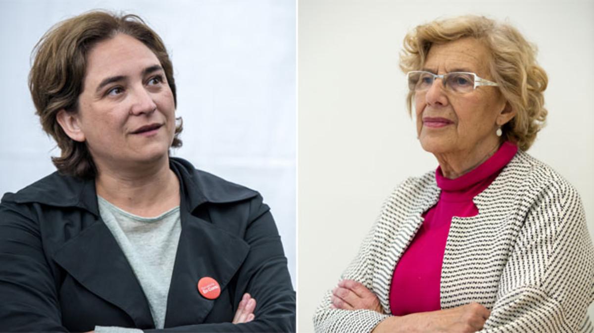 Ada Colau y Manuela Carmena, un año de pelea municipal.