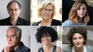 Javier Pérez Andújar, Manuela Carmena, Leticia Dolera, Ferran Adrià,Carmen Juares y Marina Garcés..
