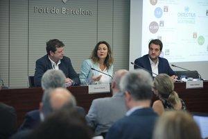 Conesa durante la presentación del informe de sostenibilidad de Port de Barcelona.