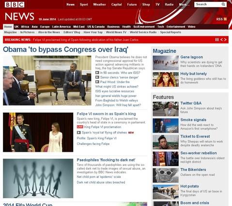 Capçalera BBC es fa ressò de la coronació de Felip VI.