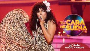 Cristina Ramos imitando a Donna Summer en 'Tu cara me suena 8'.