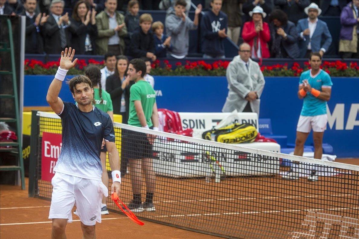 David Ferrer se despide entre el aplauso de los aficionados que acudieron a presenciar su partido ante Nadal