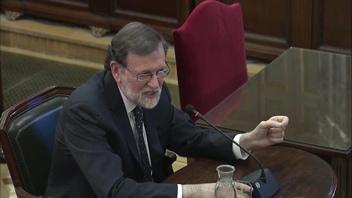 El expresidente del Gobierno Mariano Rajoy ha defendido que las autoridades de la Generalitat eran plenamente conscientes de que no iba a autorizar un referéndum para liquidar la soberanía nacional ni la unidad de España.