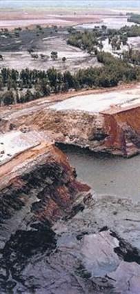 El dique roto de Aznalcóllar.