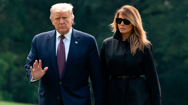 Donald y Melania Trump dan positivo por coronavirus.