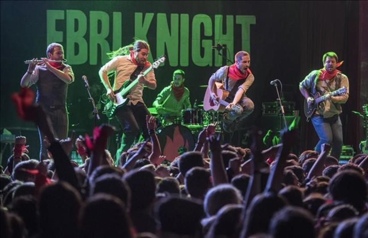 Ebri Knight, durante el concierto del viernes en Apolo.