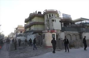 Estado en el que quedó la embajada española en Kabul tras el ataque.