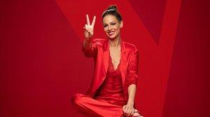 Eva Gonzálezposa para La voz, programa de Antena 3.