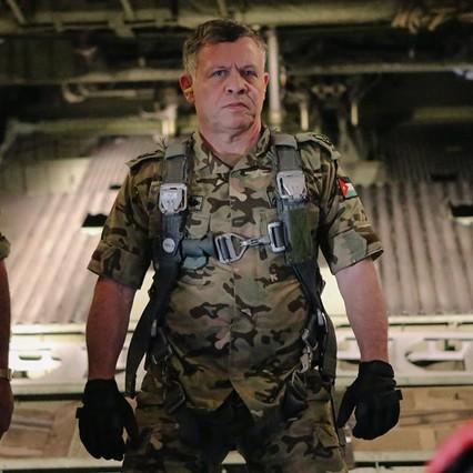 El exmilitar rey Abdullah II de Jordania en la fotografía de la página oficial de la Corte Real Hachemí.