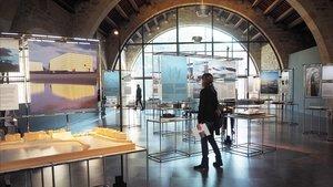 Exposición 'Arquitecturas en la orilla',en el Museu Maritim de Barcelona.
