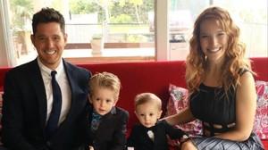 La familia Bublé-Lopilato, el pasado mes de octubre.