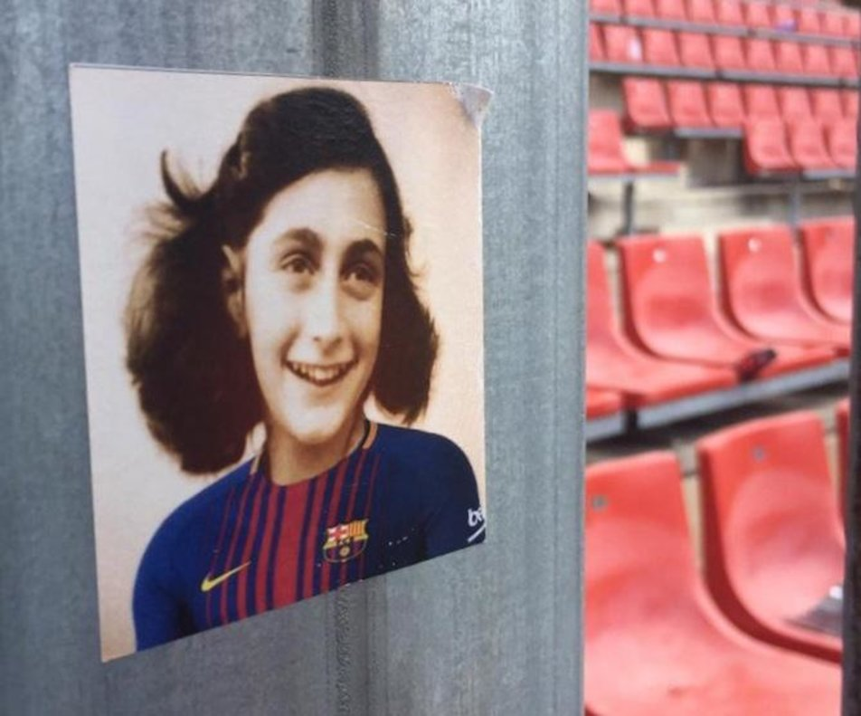 La polémica imagen de Anna Frank con jersey del Barça